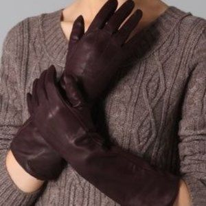 New! Club Monaco long leather gloves (S)